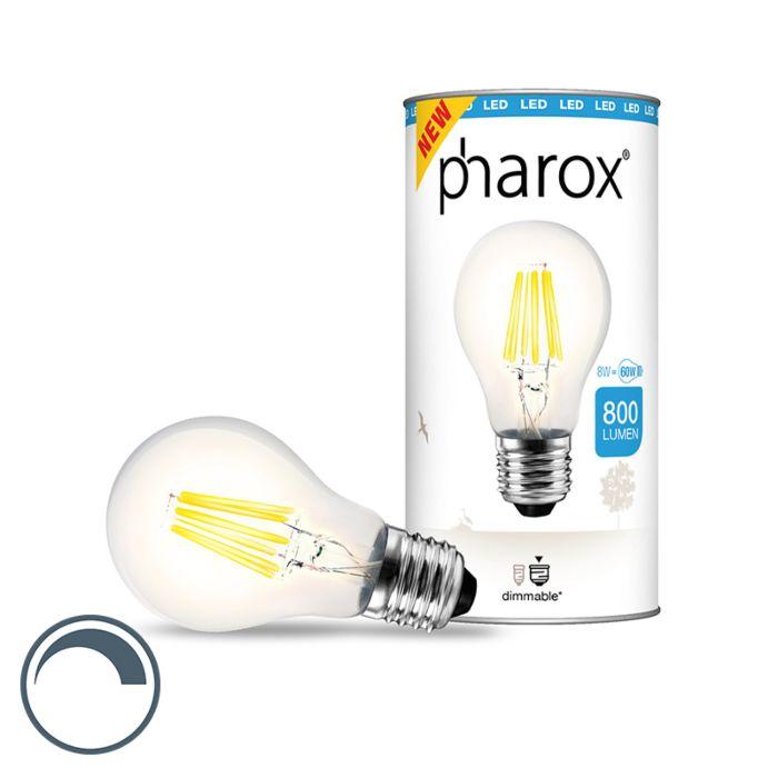 Lampe-Pharox-LED-claire-E27-8W-800-lumen