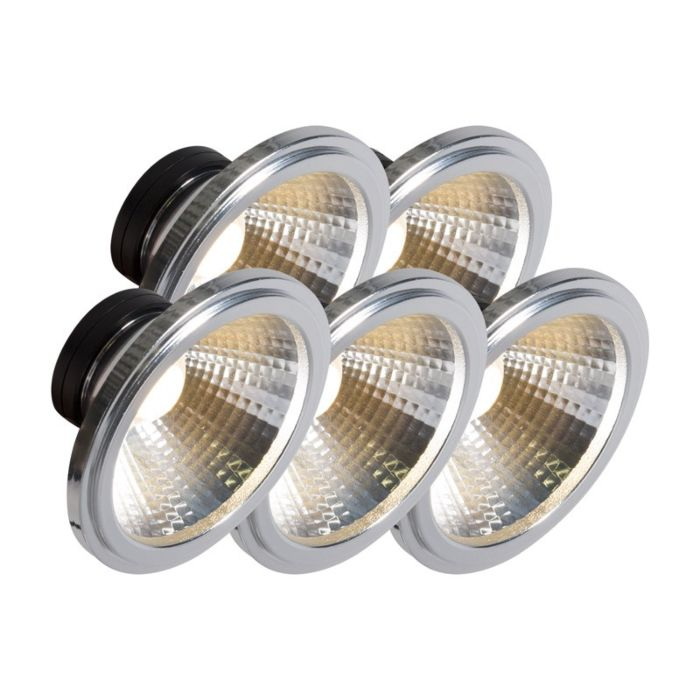 AR111-lampe-à-LED-COB-7W-24-°-ensemble-de-5
