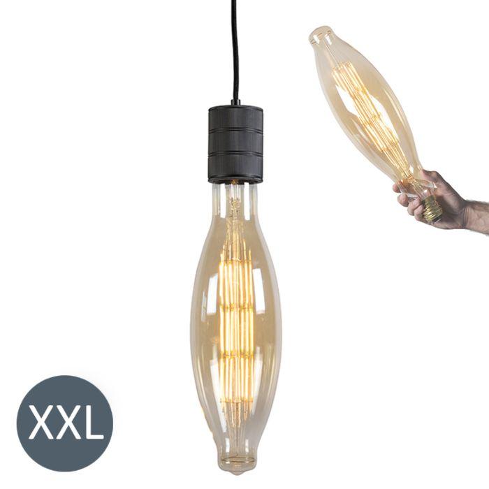 Suspension-Elips-noire-avec-lampe-à-LED-dimmable