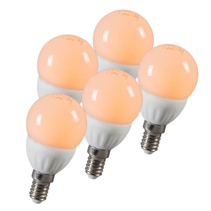 Boule-à-LED-E14-3W-250-lumens-environ-25W-série-de-5