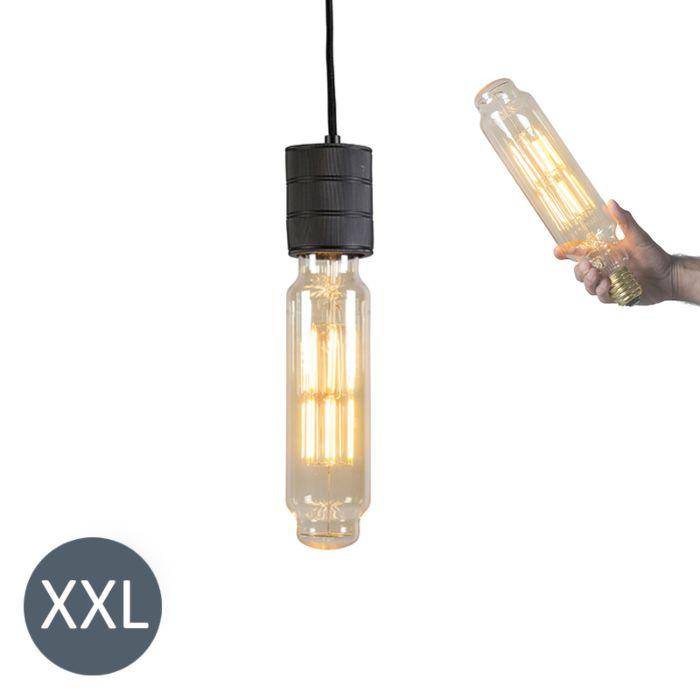 Lampe-Tower-noire-avec-lampe-LED-dimmable
