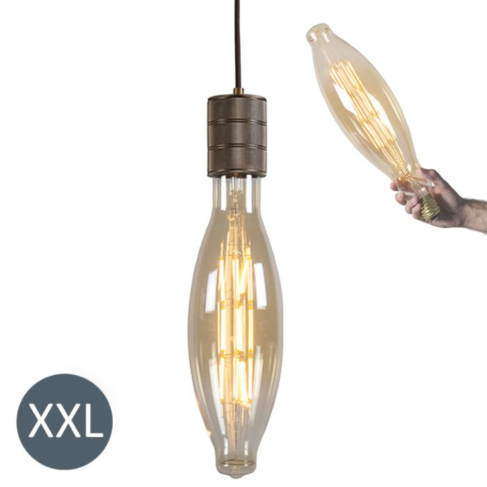 Suspension-Elips-en-bronze-avec-lampe-LED-dimmable