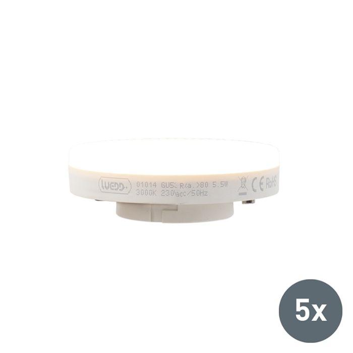 Ensemble-de-5-lampes-à-LED-GX53-5.5W-470-lumens-3000K