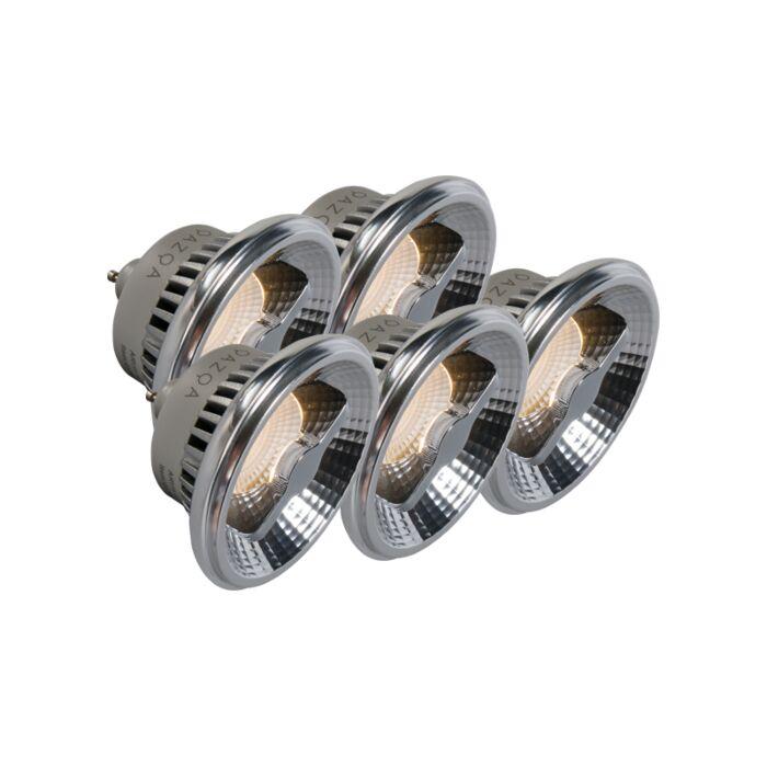 Set-de-5-ampoules-LED-GU10-AR111-12W-240V-3000K-dimmables