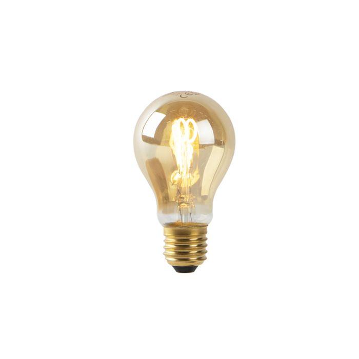Lampe-à-LED-A60-E27-2W-filament-en-spirale-en-or-2200K