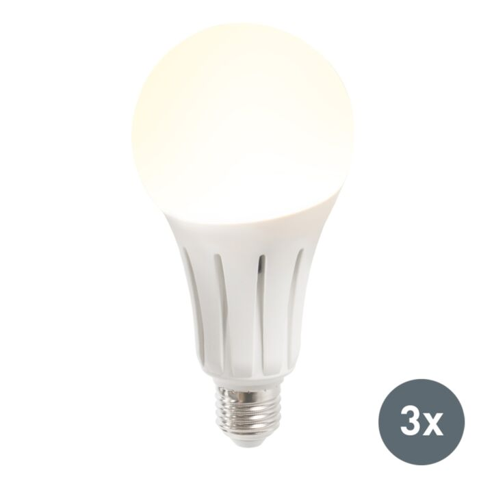 Set-de-3-ampoules-LED-B60-18W-E27-blanc-chaud