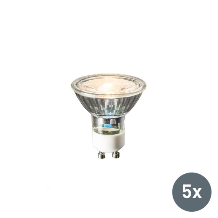 Lot-de-5-lampes-LED-GU10-COB-3W-230lm-2700K