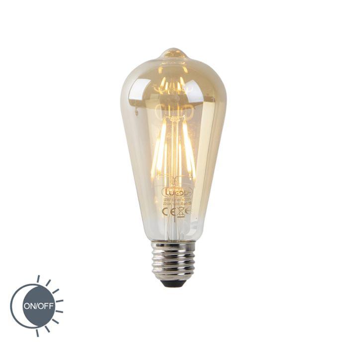 Filament-LED-ST64-4W-or-2200K-avec-capteur-clair-/-foncé