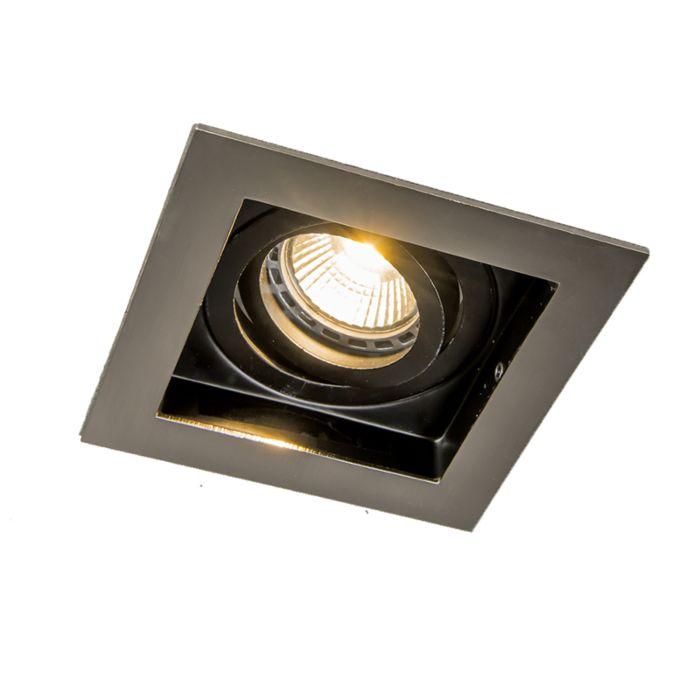 Spot-encastré-acier-noir---Carree-1