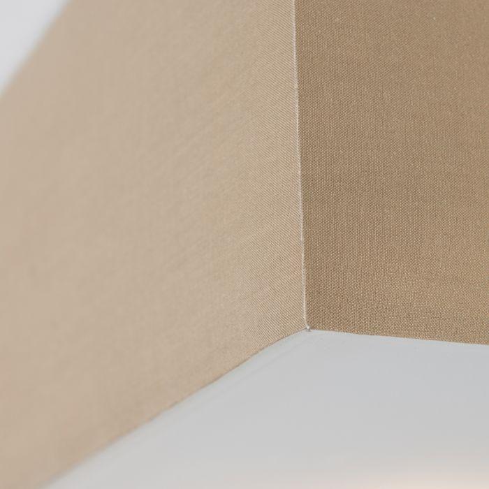 Plafonnier-Drum-carré-35cm-beige