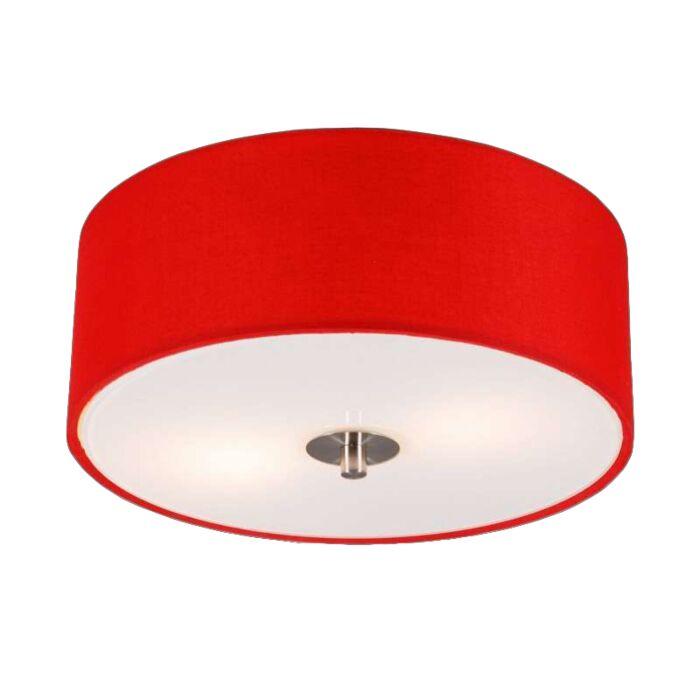 Plafonnier-moderne-rouge-30-cm---Drum