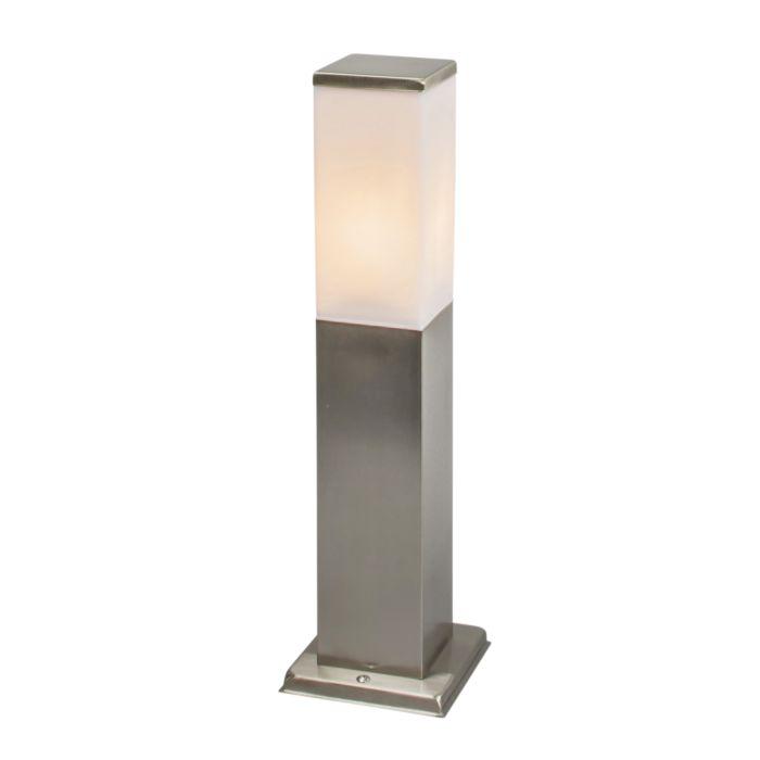 Lampe-d'extérieur-carrée-moderne-45cm-acier---Malios