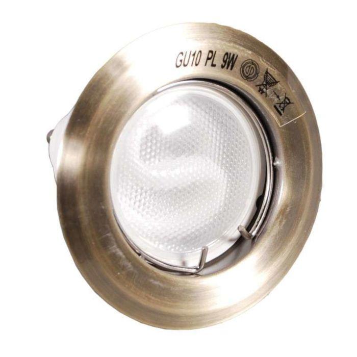 Spot-encastrable-Burn-bronze-avec-lampe-à-économie-d'énergie