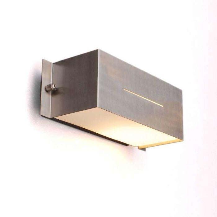 Lampe-d'extérieur-mur-Celine-Square-inox