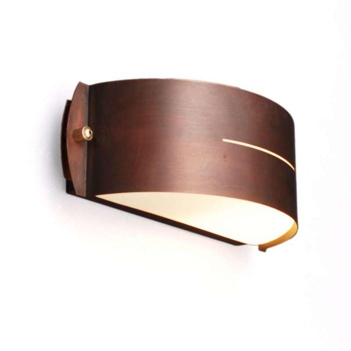 Lampe-d'extérieur-mur-Celine-ronde-cuivre