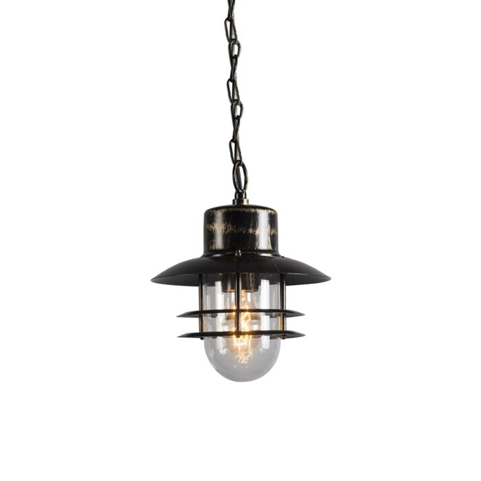 Lampe-suspendue-rétro-bronze---Coquillage