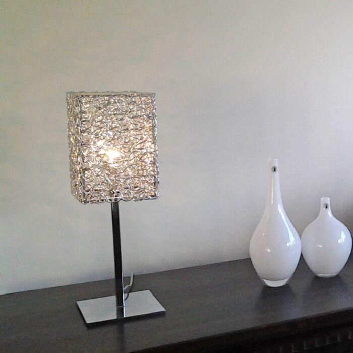 Draht-Square-L-lampe-de-table-en-aluminium