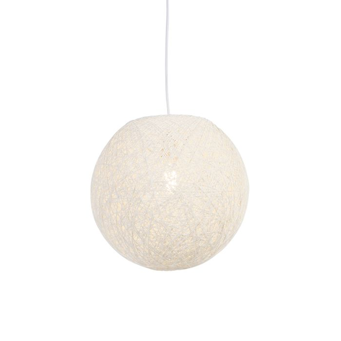 Lampe-suspendue-Country-blanc-35-cm---Corda