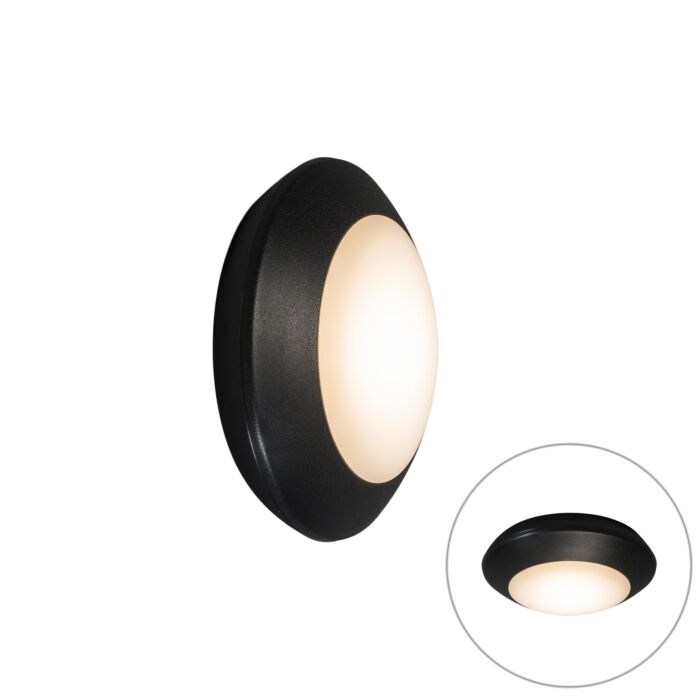 Applique-et-plafonnier-noir-IP65---Bertina