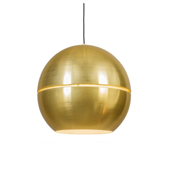 Lampe-à-suspension-art-déco-or-50-cm---Slice