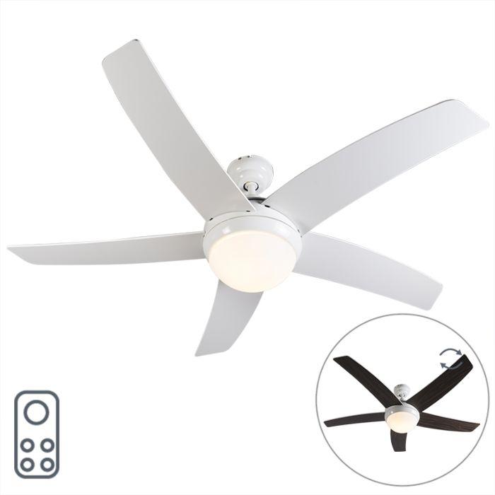 Ventilateur-de-plafond-blanc-avec-télécommande---Cool-52