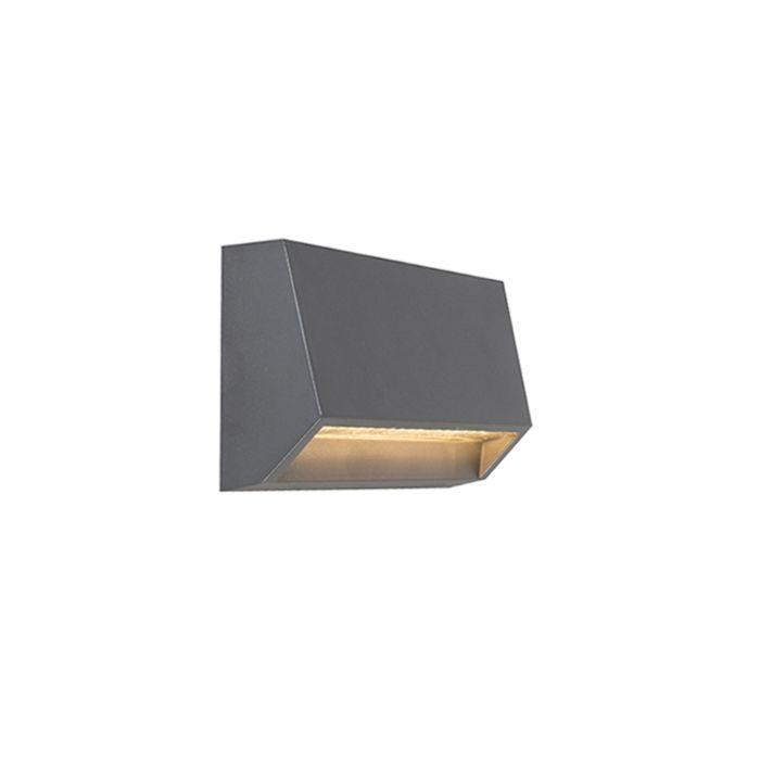 Applique-murale-d'extérieur-moderne-gris-foncé-avec-LED-IP65---Sandstone-2