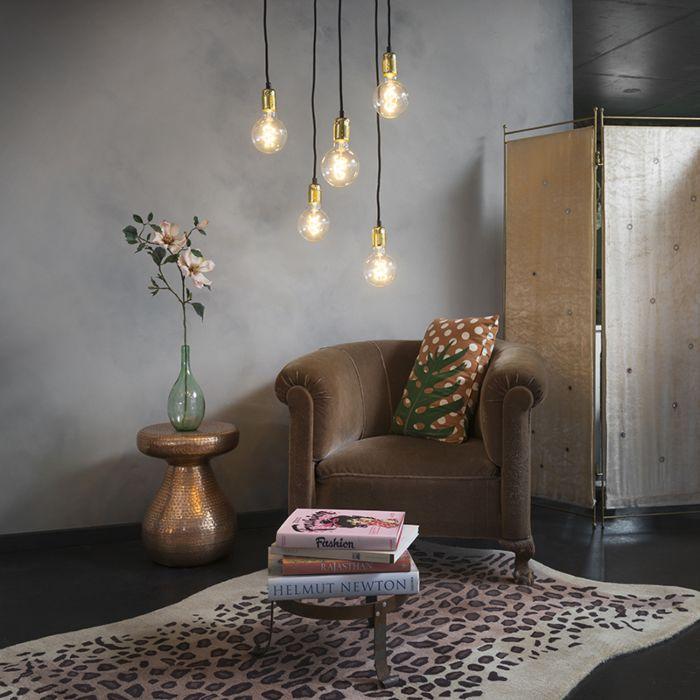 Lampe-suspendue-moderne-dorée-dimmable---Cava-5