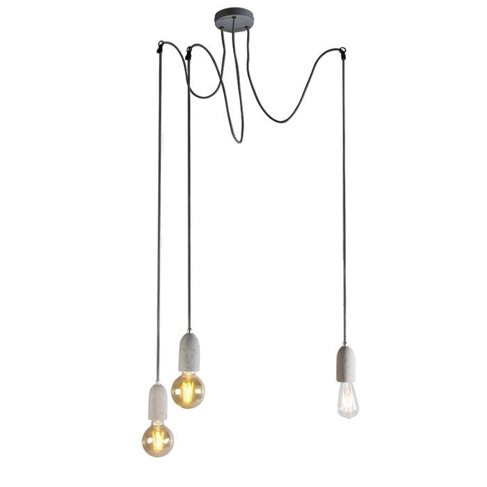 Lampe-suspension-moderne-béton-gris---Cava-3
