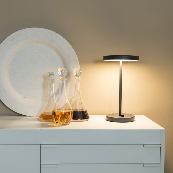 Lampe-de-table-Disco-noir