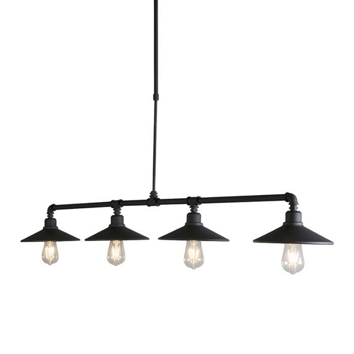 Lampe-suspendue-industrielle-noir---4-Laser