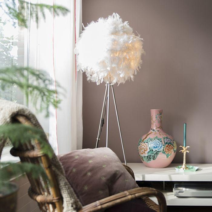Lampadaire-moderne-blanc---Plume