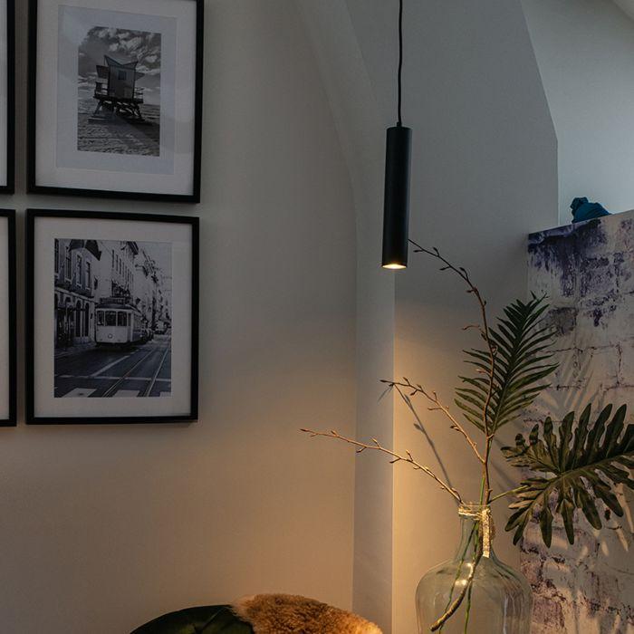 Lampe-suspendue-design-noir---Tuba-small