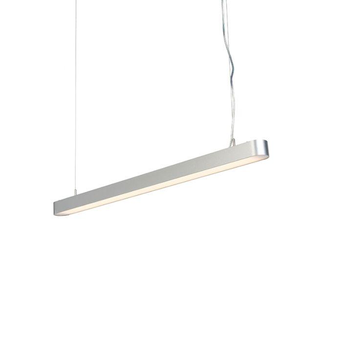 Suspension-moderne-allongée-argent-100cm-avec-LED---Duct-R