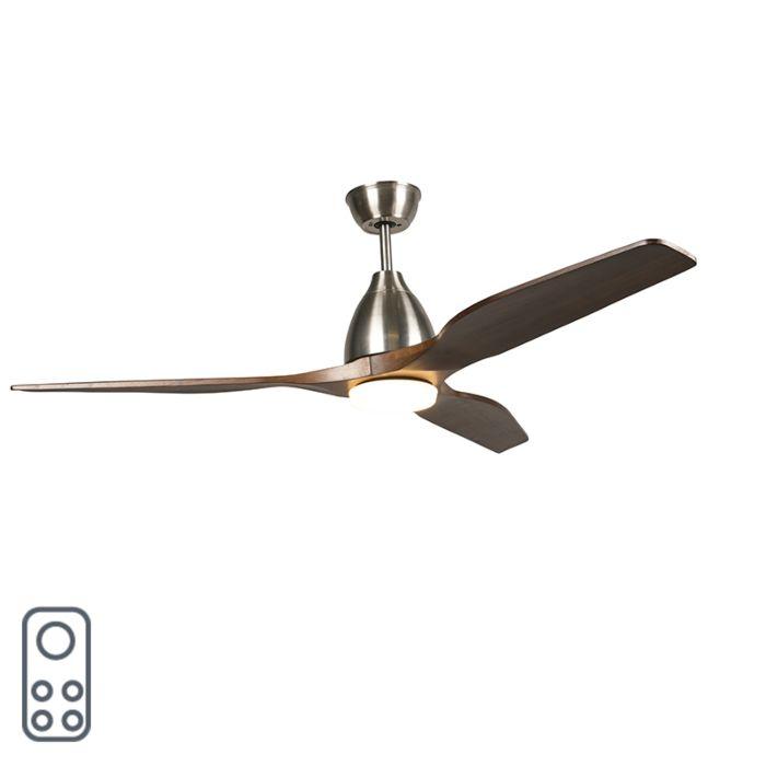 Ventilateur-de-plafond-en-bois-avec-LED-et-télécommande---Levant-52