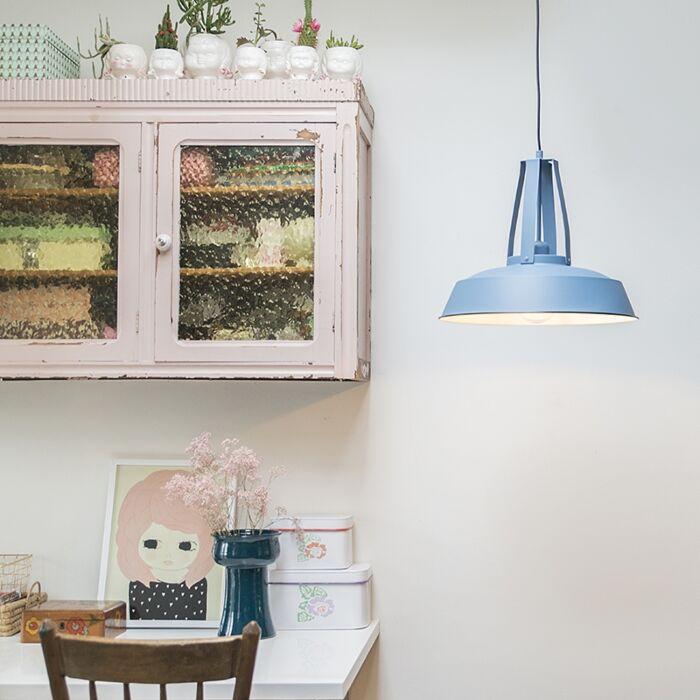 Lampe-à-suspension-vintage-bleu-43-cm---Living