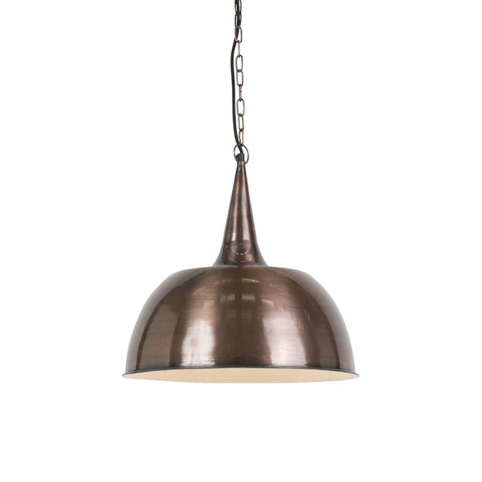 Suspension-industrielle-en-cuivre---Loft