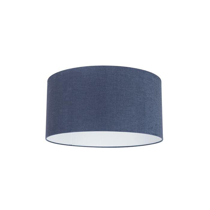 Abat-jour-50/50/25-cylindre-bleu-antique