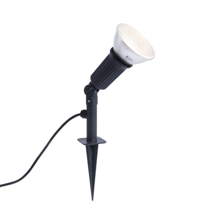 Lampe-perforante-noire-inclinable-avec-lampe-LED-E27-IP44---Bonk