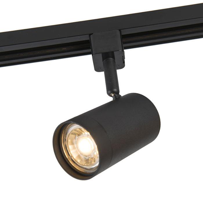 Projecteur-de-rail-moderne-monophase-noir---Jeana