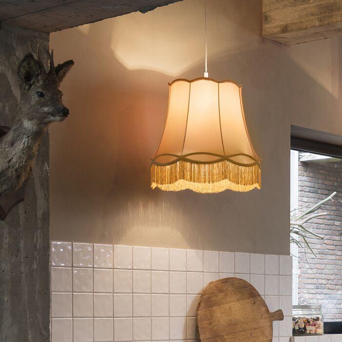 Lampe-suspendue-rétro-or-45-cm---Granny
