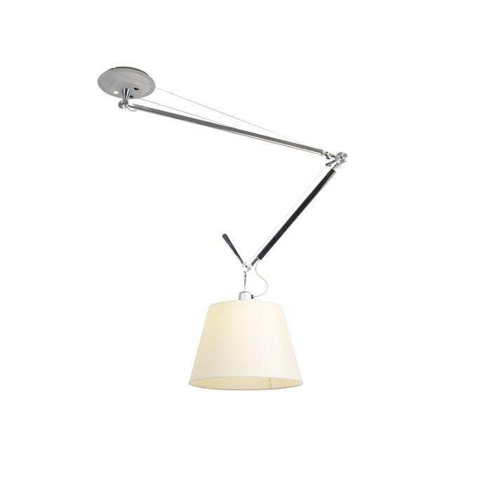 Lampe-suspendue-avec-abat-jour---Artemide-Tolomeo-Sospensione-Decentrata