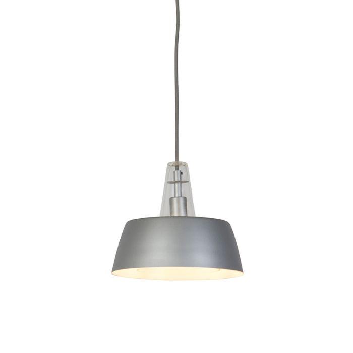 Lampe-suspension-grise-moderne---Manu