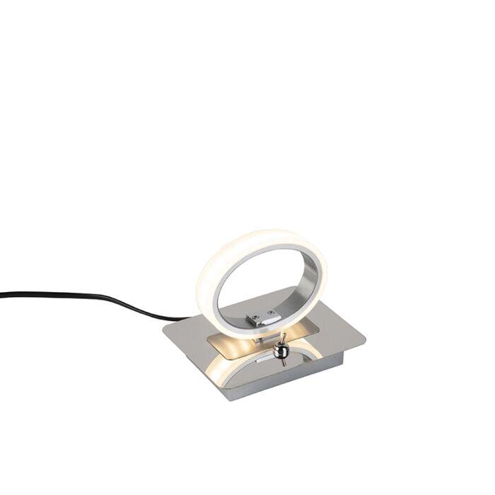Lampe-de-table-ronde-moderne-chromée-avec-LED---Clinton
