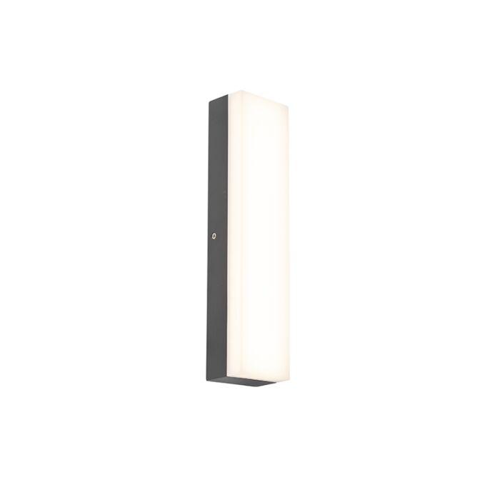 Applique-extérieure-rectangulaire-moderne-gris-foncé---Opacus