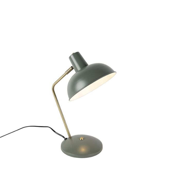 Lampe-de-table-rétro-gris-avec-bronze---Milou
