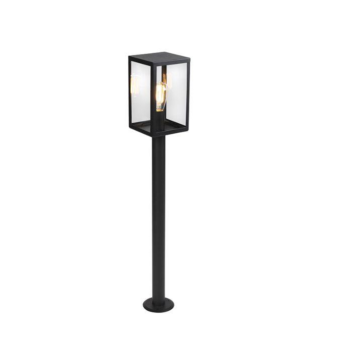 Lampe-d'extérieur-moderne-noire-avec-verre-100,5-cm---Rotterdam