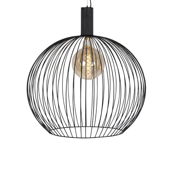 Suspension-moderne-ronde-noire-70-cm---Wire
