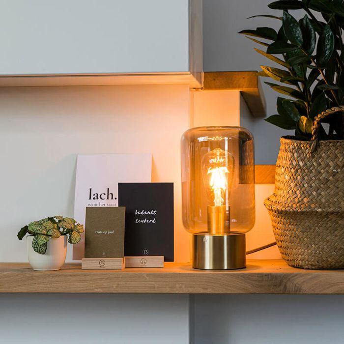 Lampe-de-table-design-en-laiton-avec-verre-fumé---Bliss-Cute