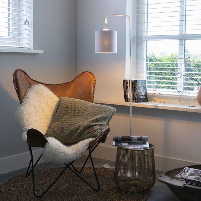 Lampadaire-moderne-blanc---Lofty