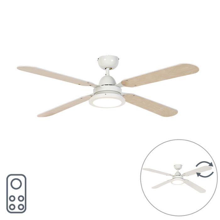 Ventilateur-de-plafond-blanc-avec-télécommande---Fanattic